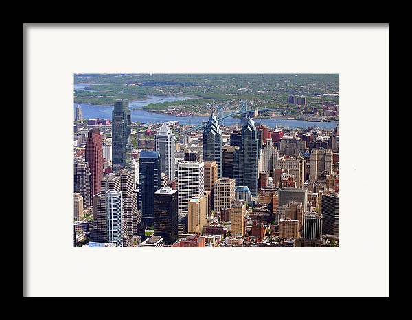 Philadelphia Framed Print featuring the photograph Philadelphia Skyscrapers by Duncan Pearson