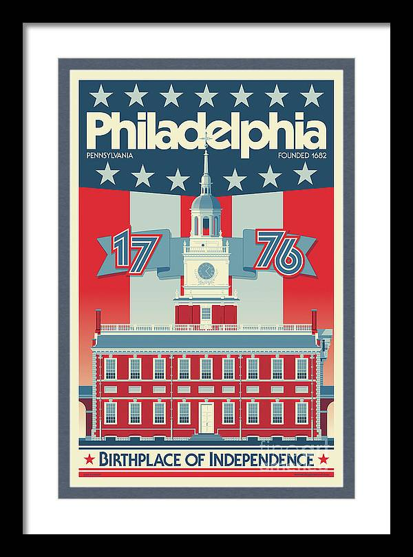 Philadelphia Poster - Independence Hall by Jim Zahniser