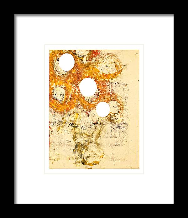 Abstract Framed Print featuring the painting Philip Von Magnet In Fez by Howard Goldberg
