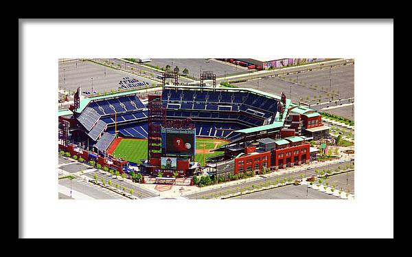 Aerial Photograph Framed Print featuring the photograph Phillies Citizens Bank Park Philadelphia by Duncan Pearson
