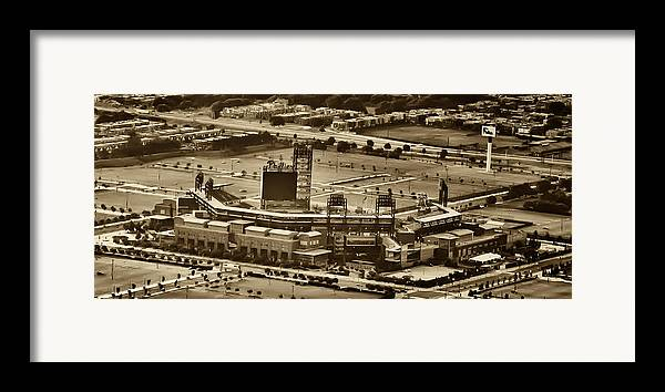 Sports Framed Print featuring the photograph Phillies Stadium - Citizens Bank Park by Bill Cannon