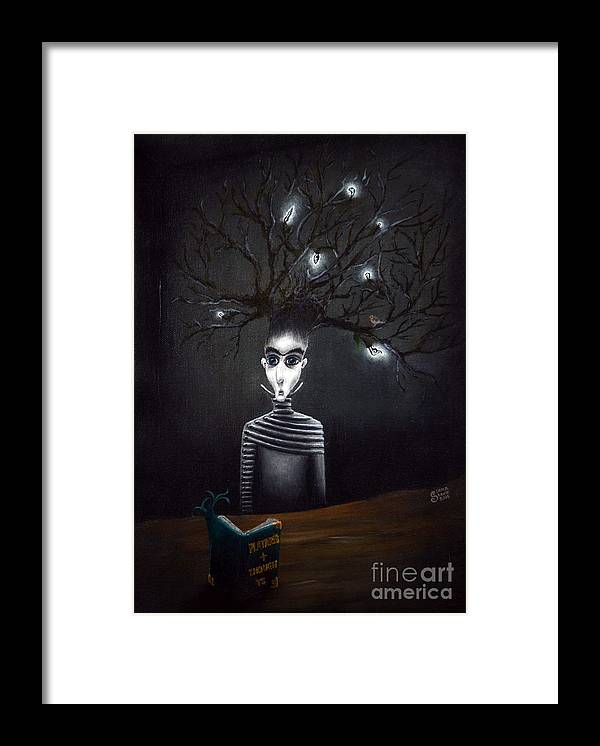 Philosophy Framed Print featuring the painting Philosopher by Lena Sterk