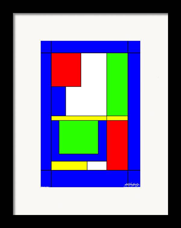 Philosophy Of Life Framed Print featuring the digital art Philosophy Of Life I by Asbjorn Lonvig