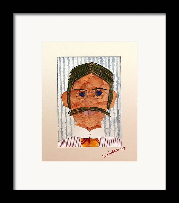 Man Framed Print featuring the mixed media Phinneas by Lisabeth Billingsley