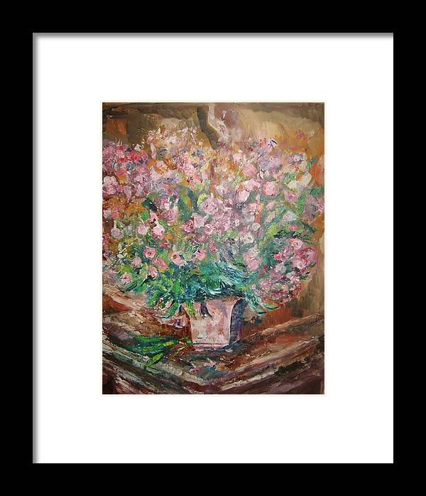 Still Life Flowers Framed Print featuring the painting Phlox by Joseph Sandora Jr