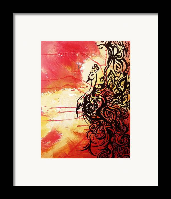 Phoenix Framed Print featuring the painting Phoenix 1 by Bonnie Rose Parent