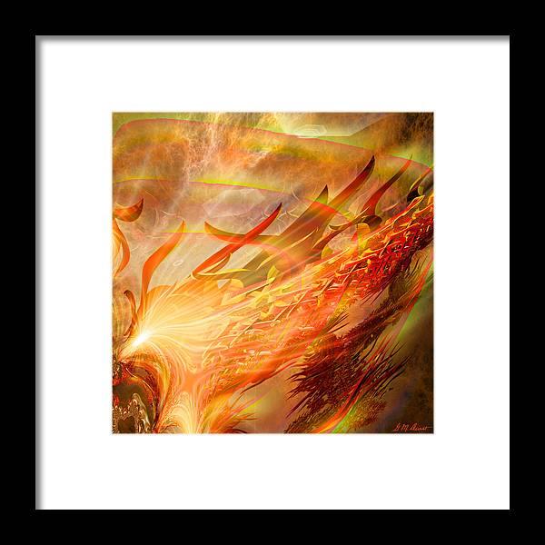 Eastern Framed Print featuring the digital art Phoenix by Michael Durst