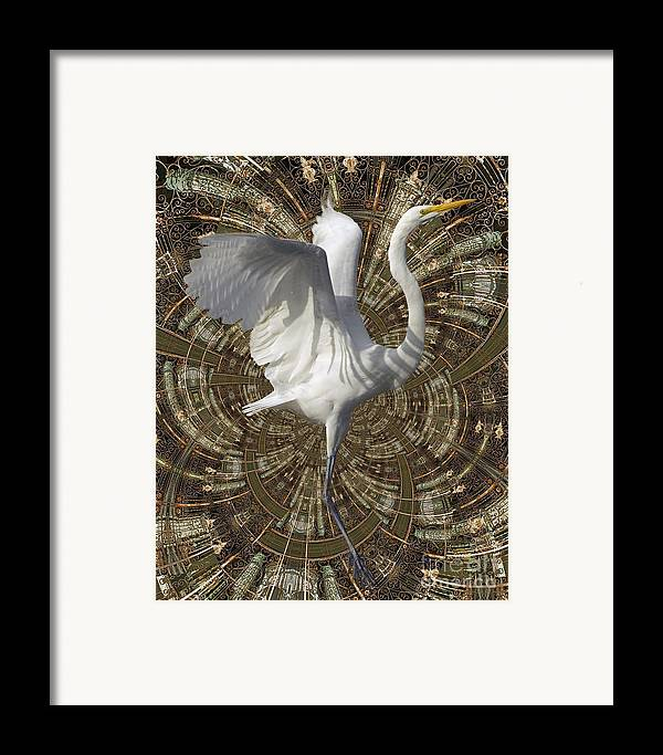 Bird Framed Print featuring the digital art Phoenix Rising by Chuck Brittenham