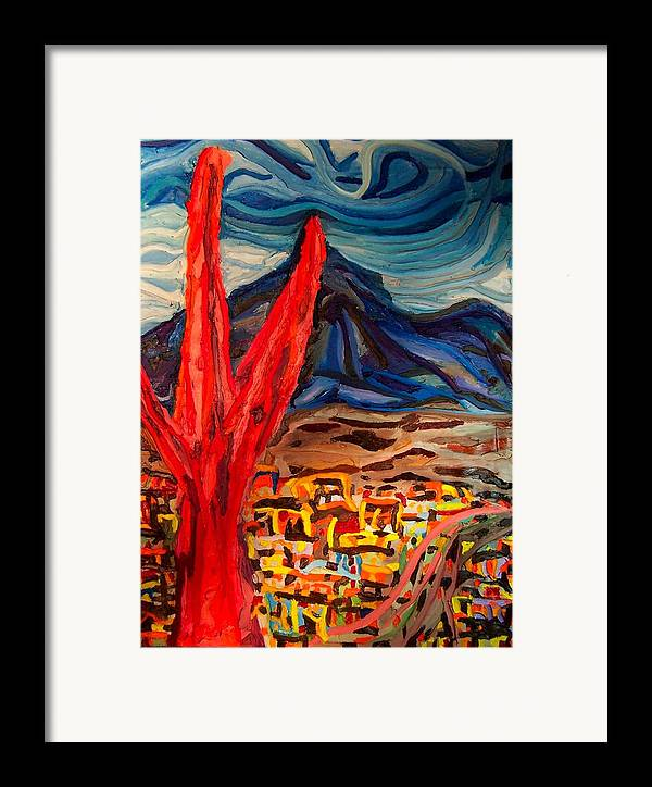 Framed Print featuring the painting Phoenix Rising by Ira Stark