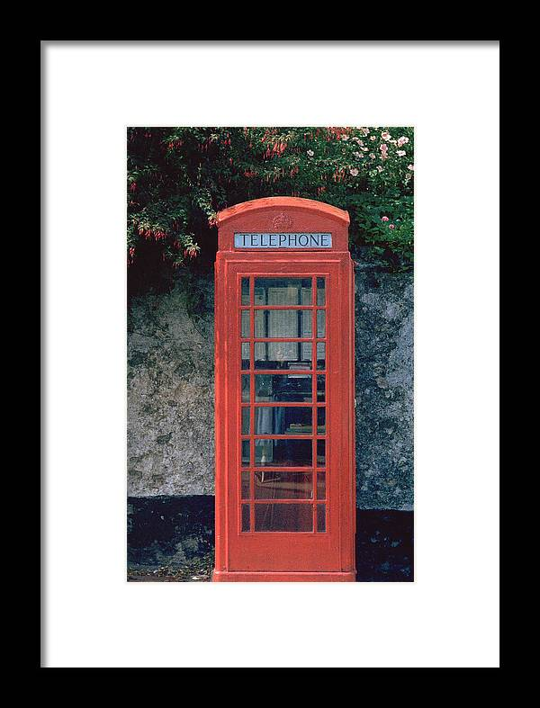 Great Britain Framed Print featuring the photograph Phone Booth by Flavia Westerwelle