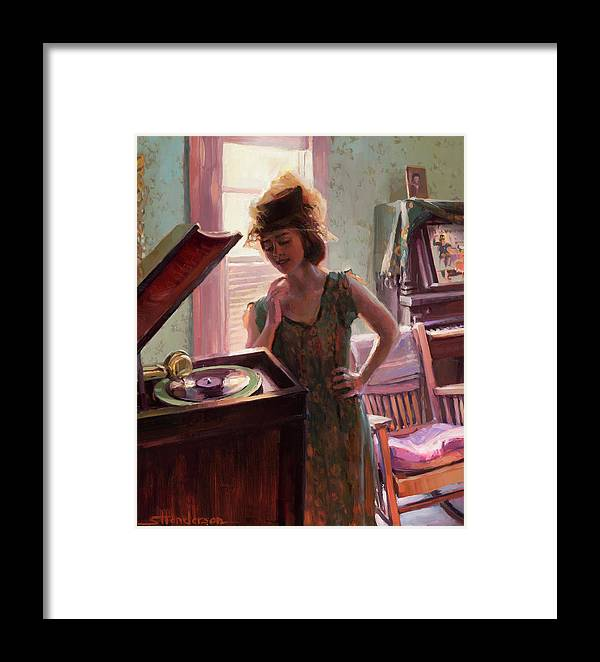 Nostalgia Framed Print featuring the painting Phonograph Days by Steve Henderson
