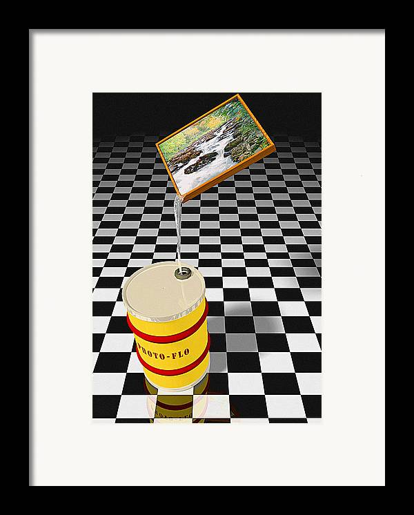 Digital Framed Print featuring the photograph Photoflo by Peter J Sucy