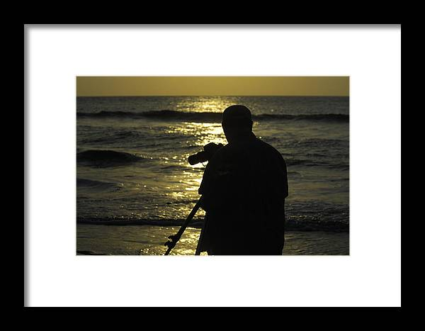 Sunrise Framed Print featuring the photograph Photographer And Atlantic Ocean Sunrise by Darrell Young