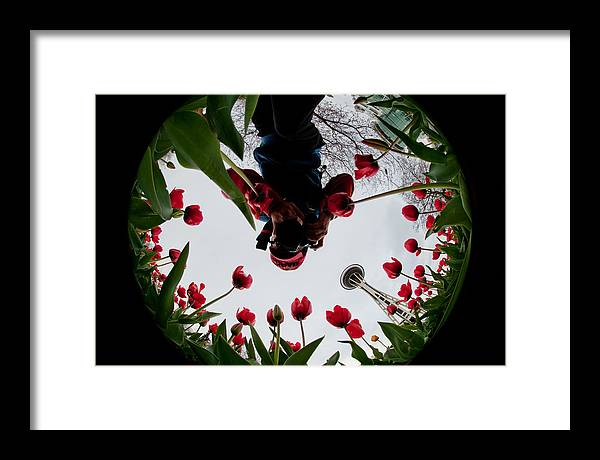 Seattle Framed Print featuring the photograph Photographer In Wonderland H084 by Yoshiki Nakamura