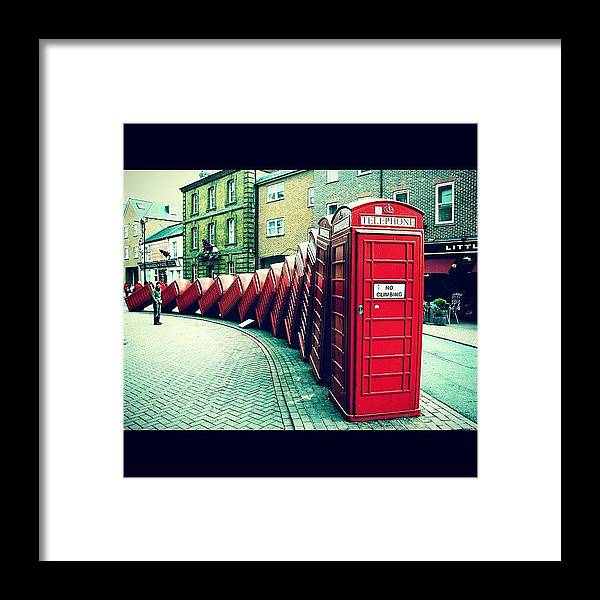 London Framed Print featuring the photograph #photooftheday #london #british by Ozan Goren