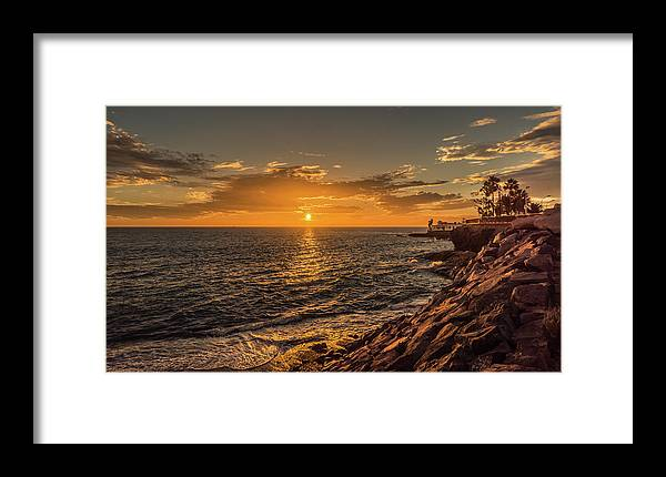 La Caleta Framed Print featuring the photograph Photo's Of Tenerife - La Caleta Sunset by Naylors Photography