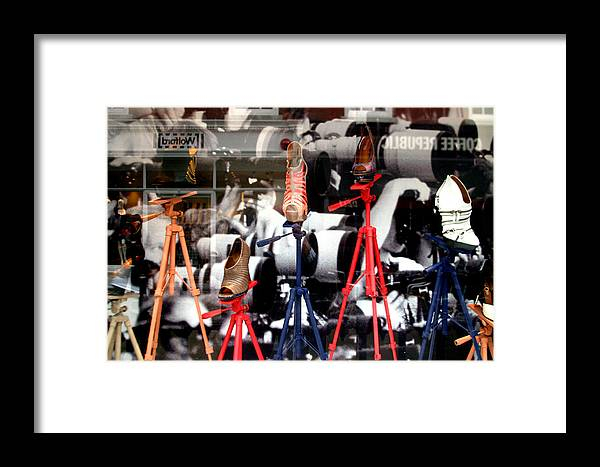 Jez C Self Framed Print featuring the photograph Photoshoes by Jez C Self