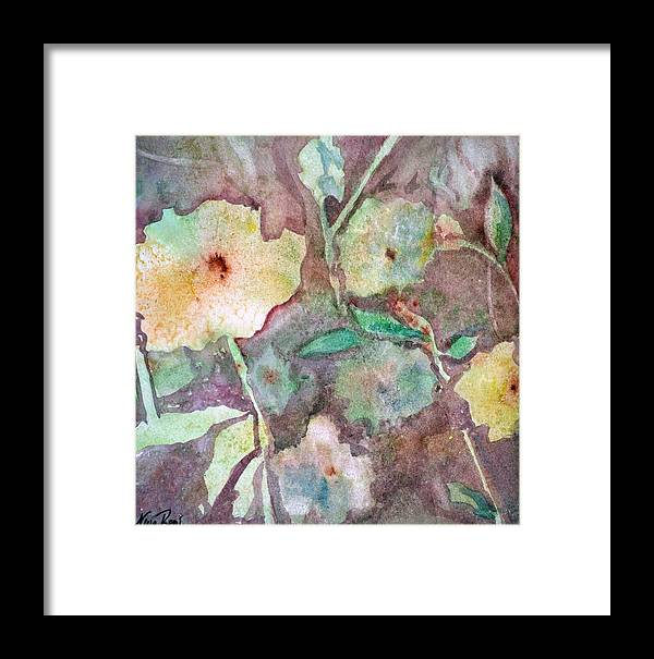 Flowers Framed Print featuring the painting Photosynthesis by Neva Rossi