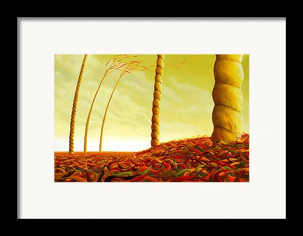 Tree Framed Print featuring the painting Phyllostachys Instita by Patricia Van Lubeck