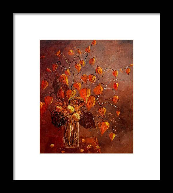 Poppies Framed Print featuring the painting Physialis by Pol Ledent