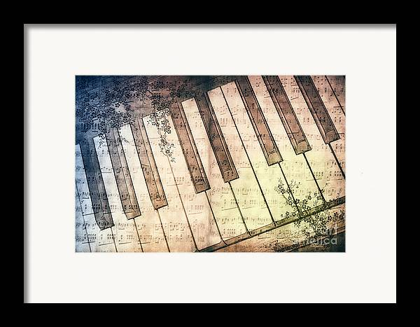 Photo Framed Print featuring the photograph Piano Days by Jutta Maria Pusl