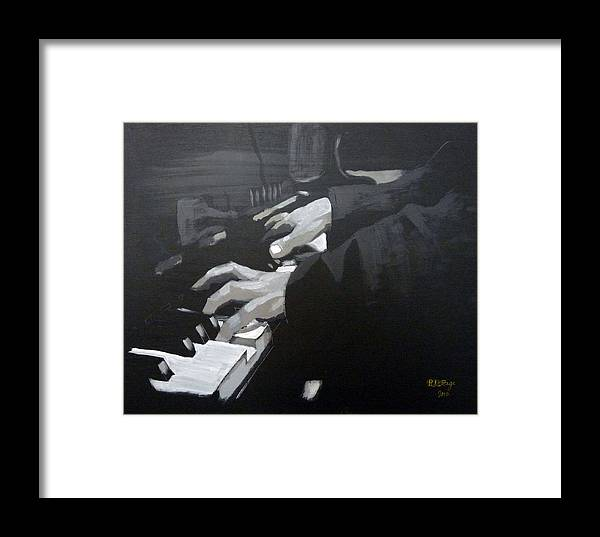 Piano Framed Print featuring the painting Piano Hands by Richard Le Page