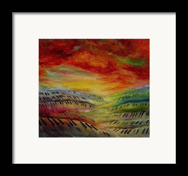 Surreal Music Framed Print featuring the painting Piano Key Dusk by Stephanie Cox