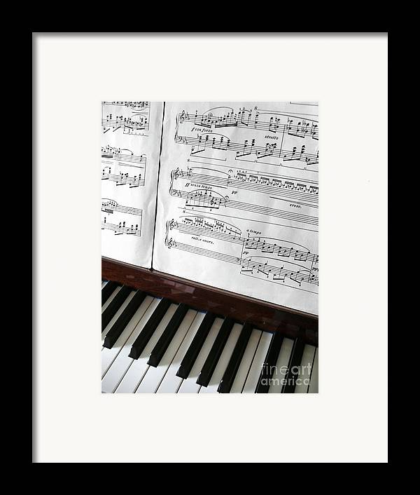 Acoustic Framed Print featuring the photograph Piano Keys by Carlos Caetano