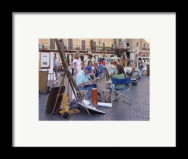 Piazza Navona Framed Print featuring the photograph Piazza Navona by Angel Ortiz