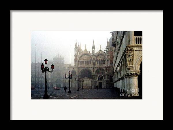 Venice Framed Print featuring the photograph Piazzetta San Marco In Venice In The Morning Fog by Michael Henderson