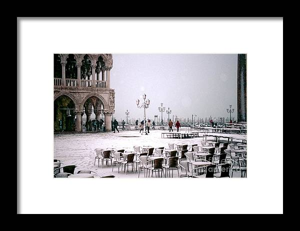Venice Framed Print featuring the photograph Piazzetta San Marco In Venice In The Snow by Michael Henderson
