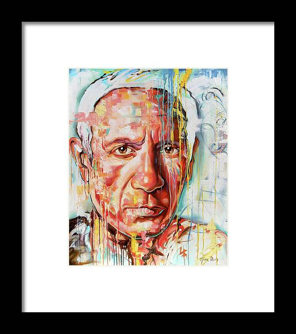 Figurative Framed Print featuring the painting Picasso by Anna Davis