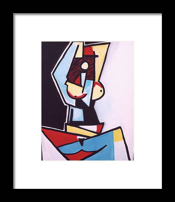Picasso Framed Print featuring the painting Picasso by Thomas Valentine