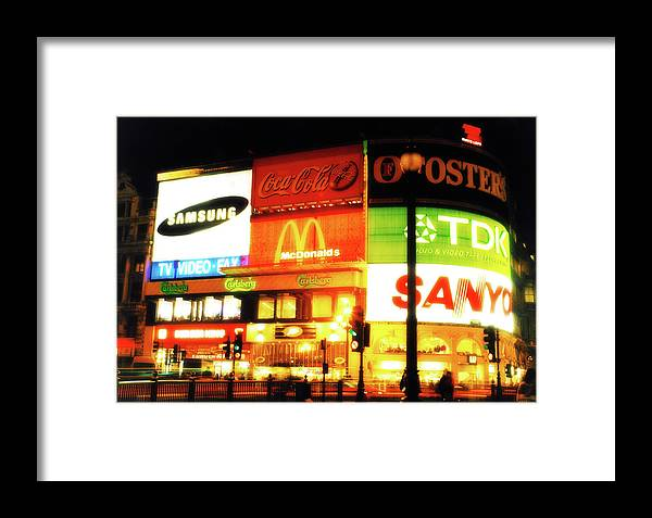 Piccadilly Circus Framed Print featuring the photograph Piccadilly Circus London by Brian Middleton