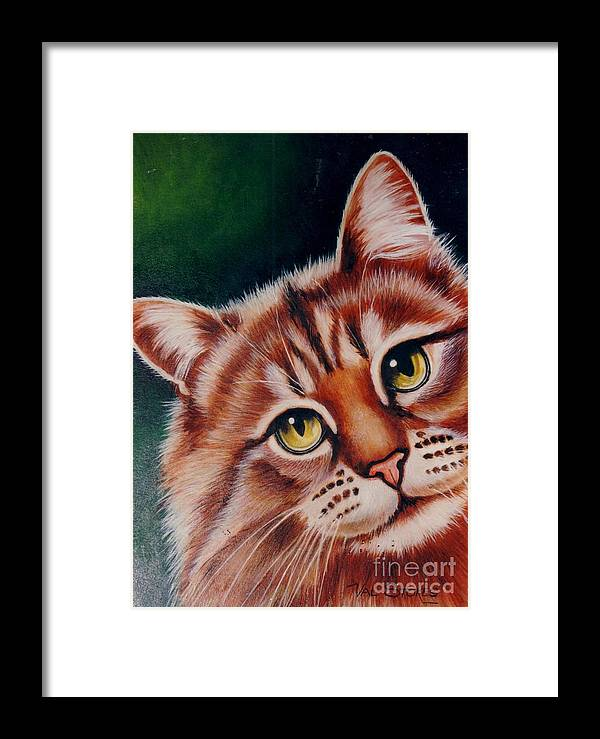 Ginger Framed Print featuring the painting Pick Me by Val Stokes