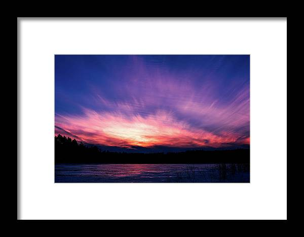 Sunset Framed Print featuring the photograph Pickerel Lake by Scott Norris
