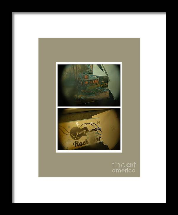 Abstract Framed Print featuring the photograph Pickles And Ice Cream by Alwyn Glasgow