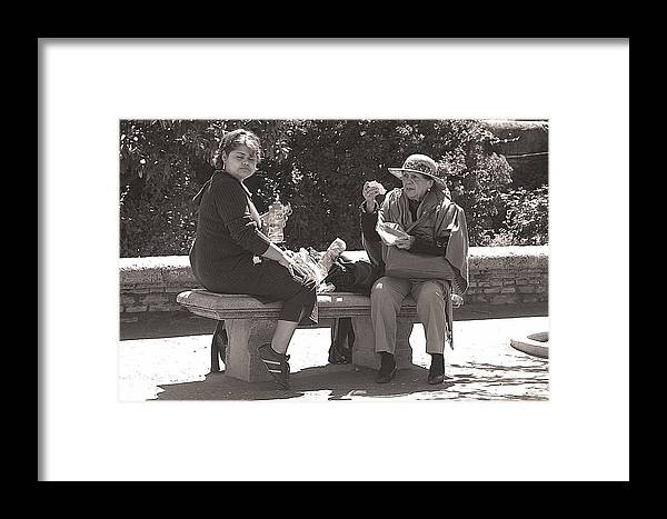 Jez C Self Framed Print featuring the photograph Picnic Lunch by Jez C Self