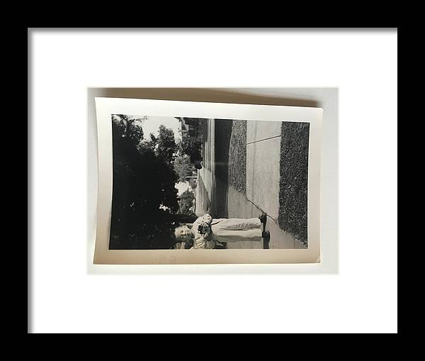 Framed Print featuring the photograph Picture Of Boy With Camera by David Vera