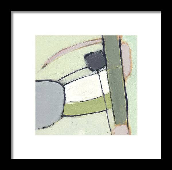 Abstract Framed Print featuring the painting Pieced 2 by Jean Beal