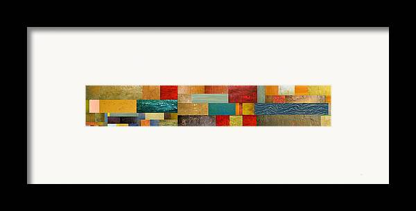 Skinny Framed Print featuring the painting Pieces Project V by Michelle Calkins