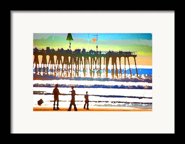Framed Print featuring the digital art Pier by Danielle Stephenson