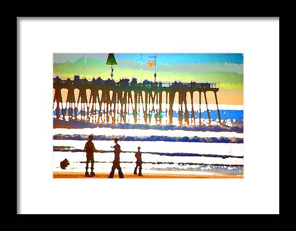 Framed Print featuring the digital art Pier by Danielle Stephenson