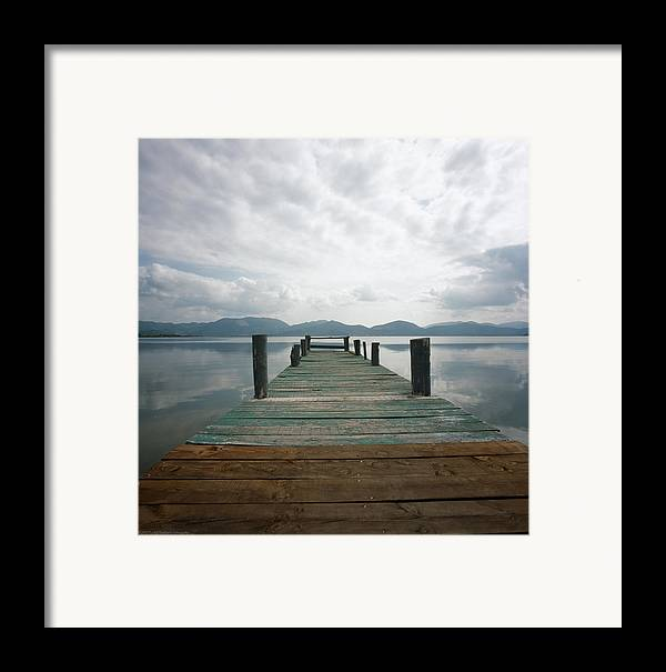 Italy Framed Print featuring the photograph Pier by Luigi Barbano BARBANO LLC