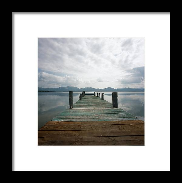 Italy Framed Print featuring the photograph Pier by Luigi Barbano BARBANO LLC