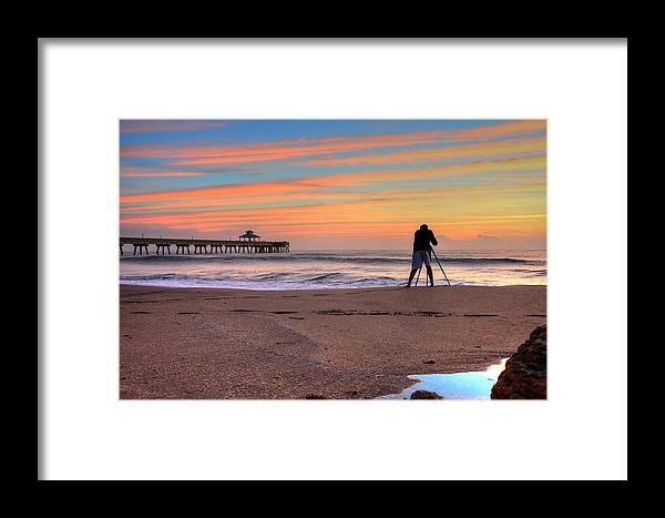 Sea Framed Print featuring the photograph Pier Portrait Photographer by William Teed