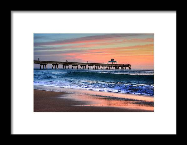 Sea Framed Print featuring the photograph Pier Portrait by William Teed