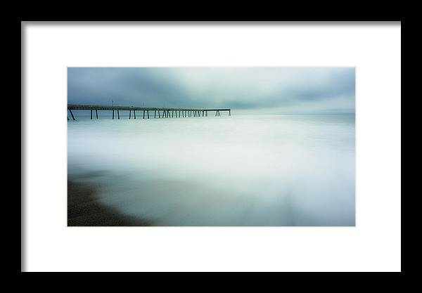 Pier Framed Print featuring the photograph Pier by Steve Spiliotopoulos