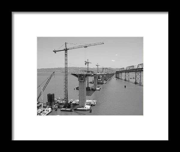 Water Framed Print featuring the photograph Pier Tables by Jerry Patchin