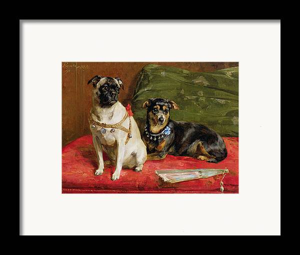 Pierette Framed Print featuring the painting Pierette And Mifs by Charles van den Eycken